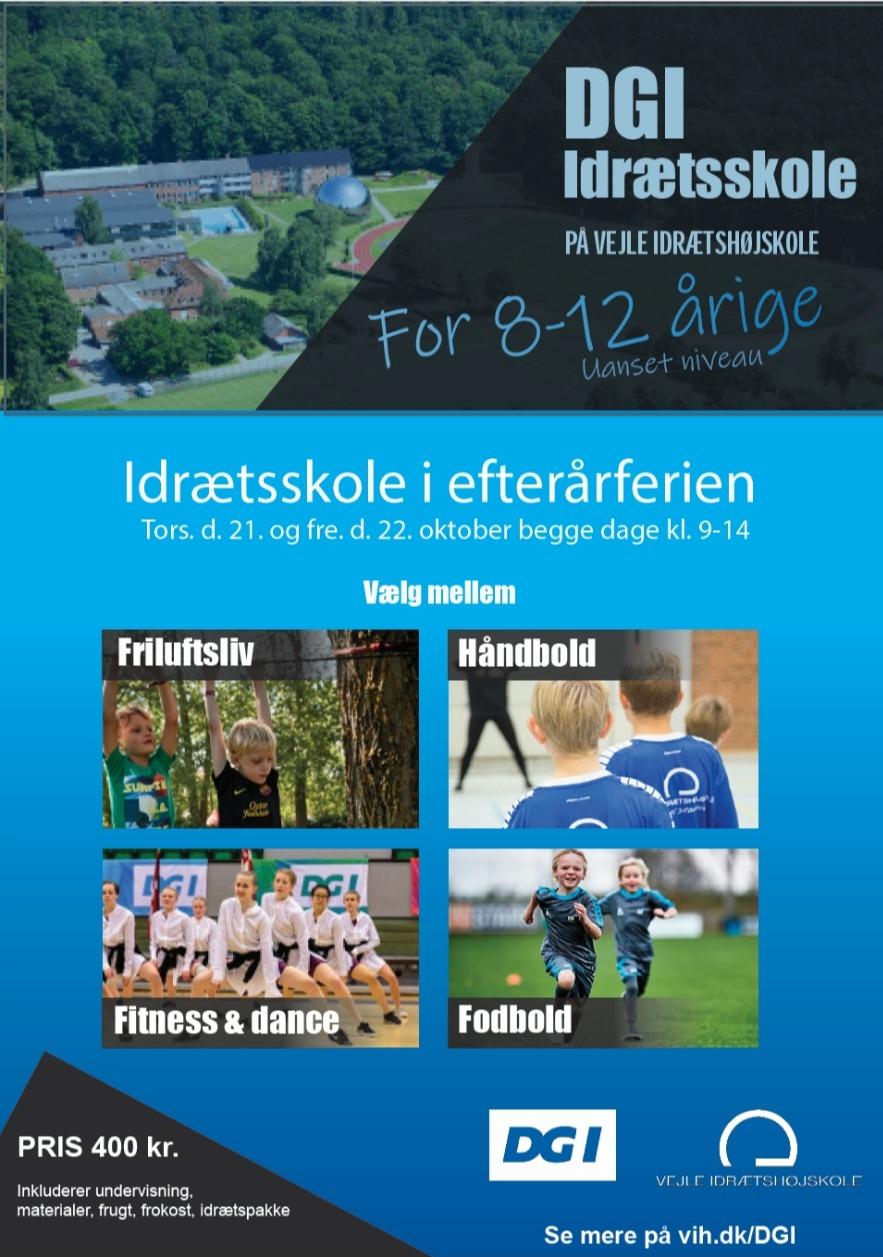 Plakat til DGI Idrætsskole
