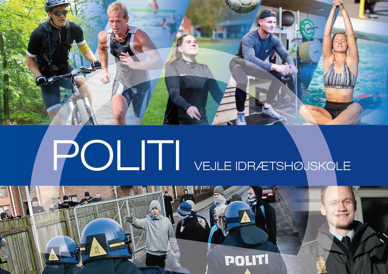 Brochure for det politiforberedende kursus på Vejle Idrætshøjskole