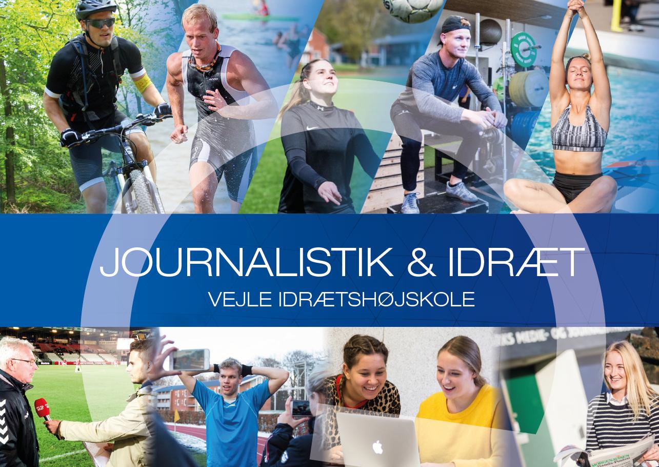 Brochure om journalistforberedende linje på Vejle Idrætshøjskole