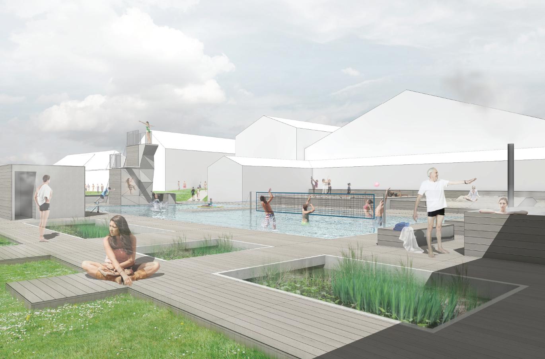 Ny svømmesø på Vejle Idrætshøjskole